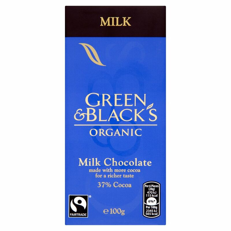 Green & Black's Organic Milk Chocolate Bar 100g