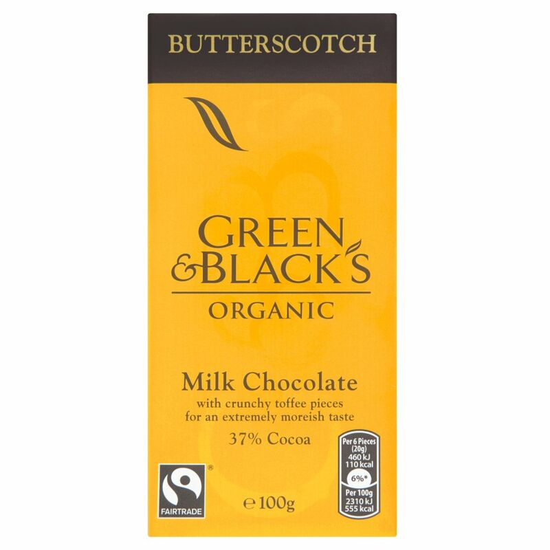 Green & Black's Organic Butterscotch Milk Chocolate Bar 100g