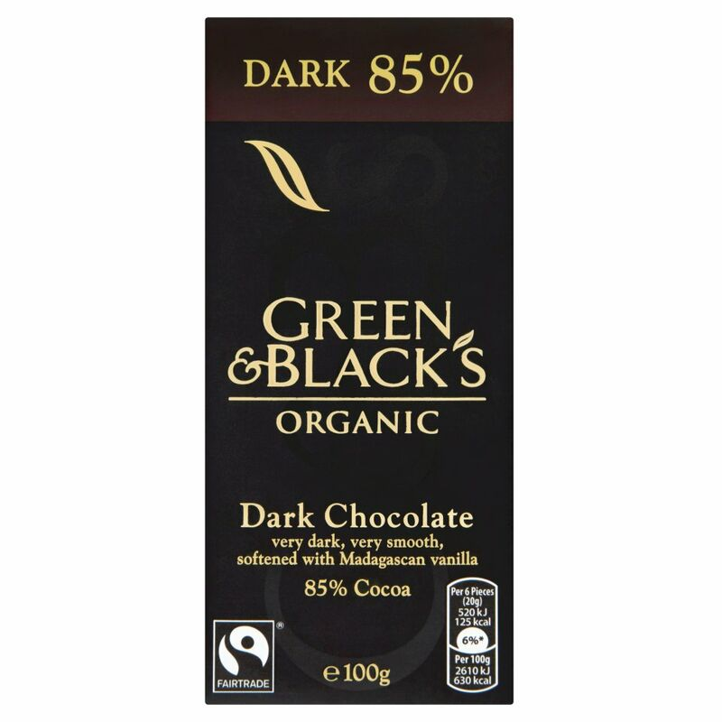 Green & Black's Organic 85% Dark Chocolate Bar 100g