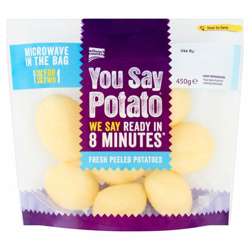 Wilson's Country You Say Potato Fresh Peeled Potatoes 450g