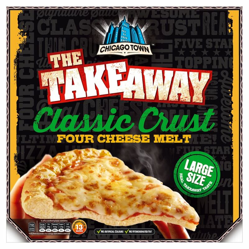 Chicago Town The Takeaway Four Cheese Melt Classic Crust 490g