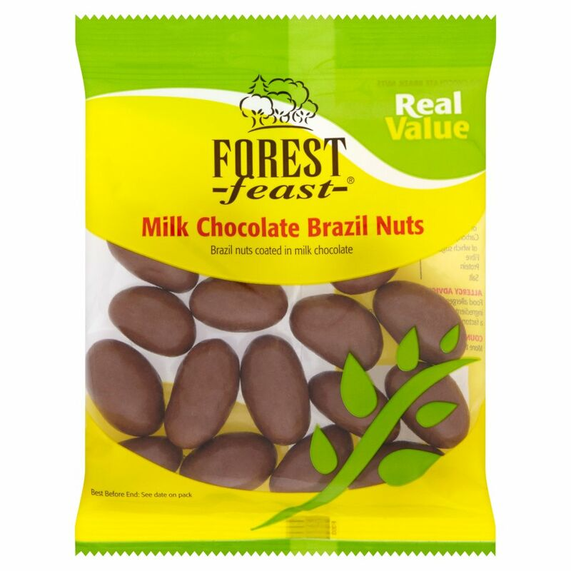 Forest Feast Real Value Milk Chocolate Brazil Nuts 150g