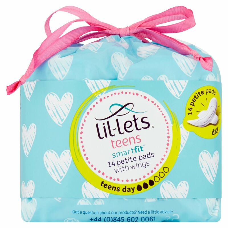 Lil-Lets Teens Smartfit 14 Petite Pads with Wings