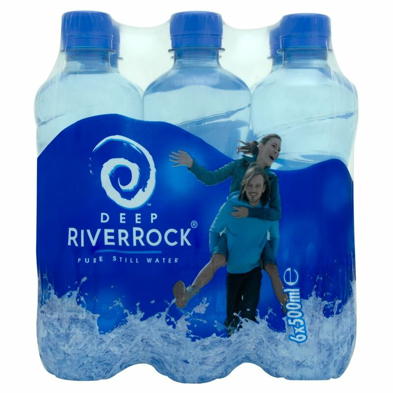 Deep RiverRock Still Water Hydrate All Day 6 x 500ml