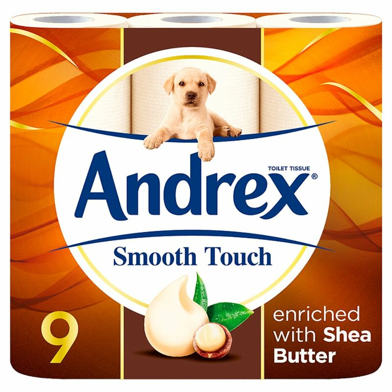Andrex Smooth Touch Toilet Roll Tissue 9 Rolls