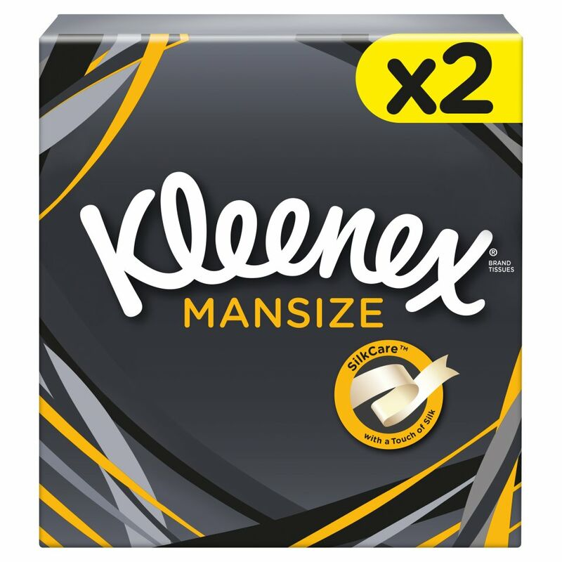 Kleenex® Mansize Compact Tissues Twin Box