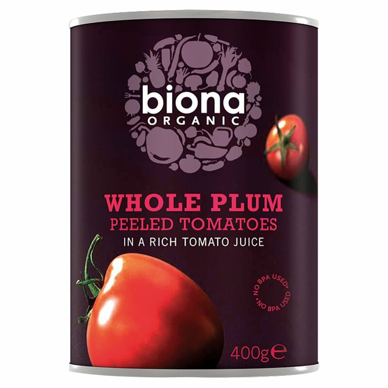 Biona Organic Whole Plum Peeled Tomatoes 400g
