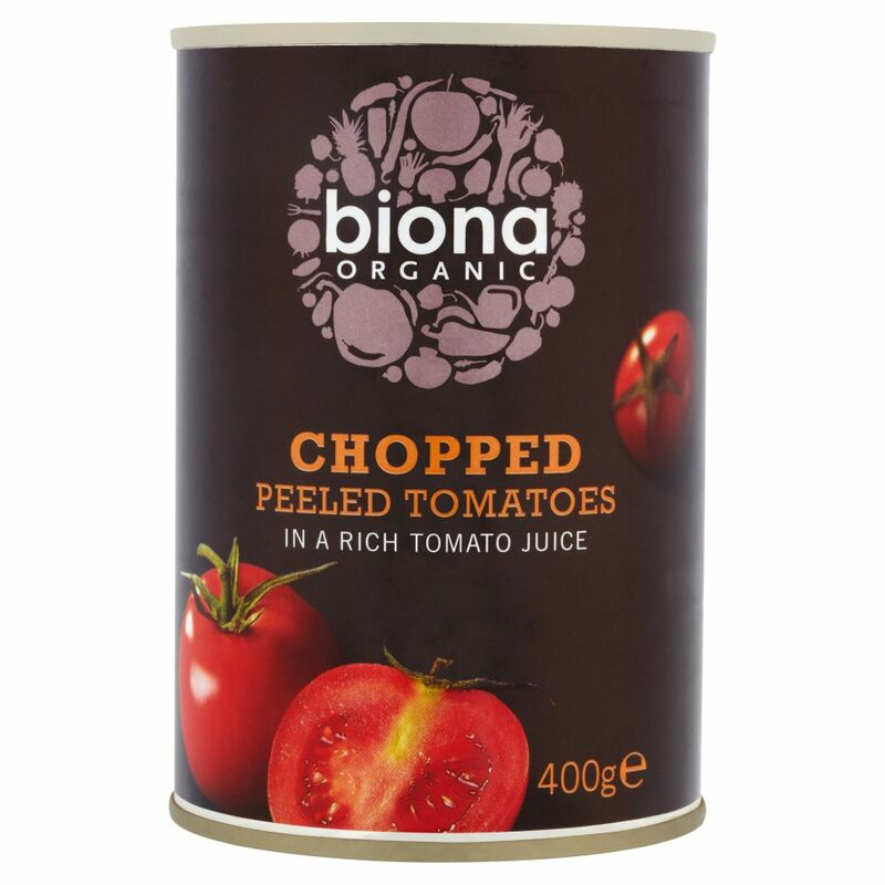 Biona Organic Chopped Peeled Tomatoes in a Rich Tomato Juice 400g