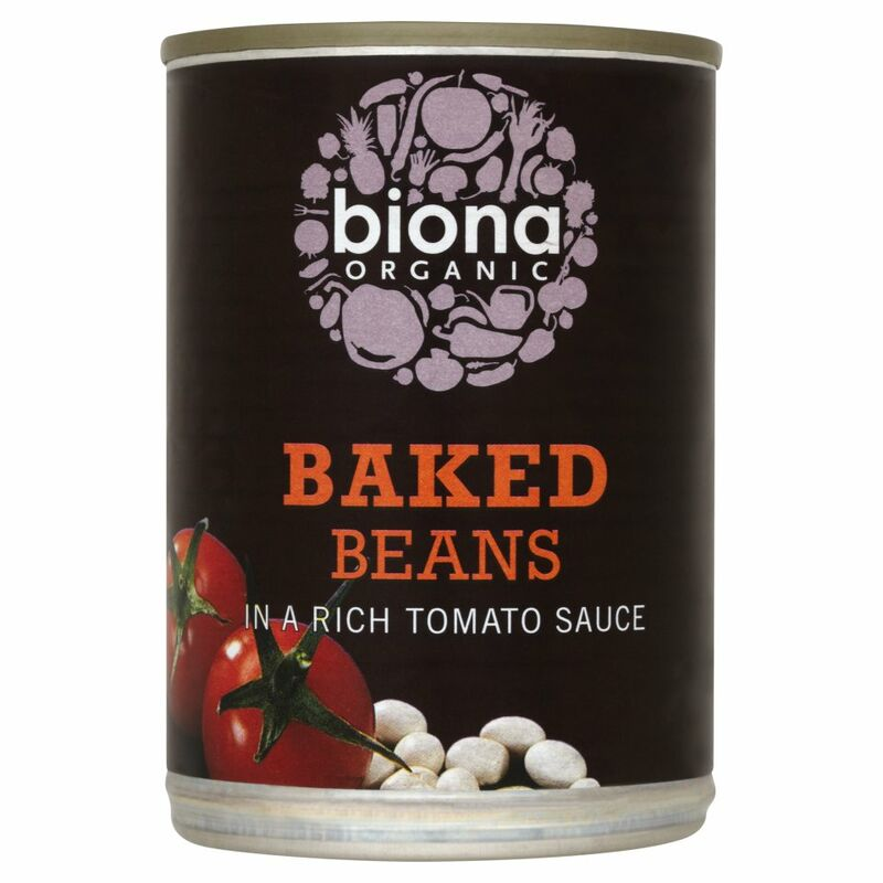 Biona Organic Baked Beans in a Rich Tomato Sauce 400g