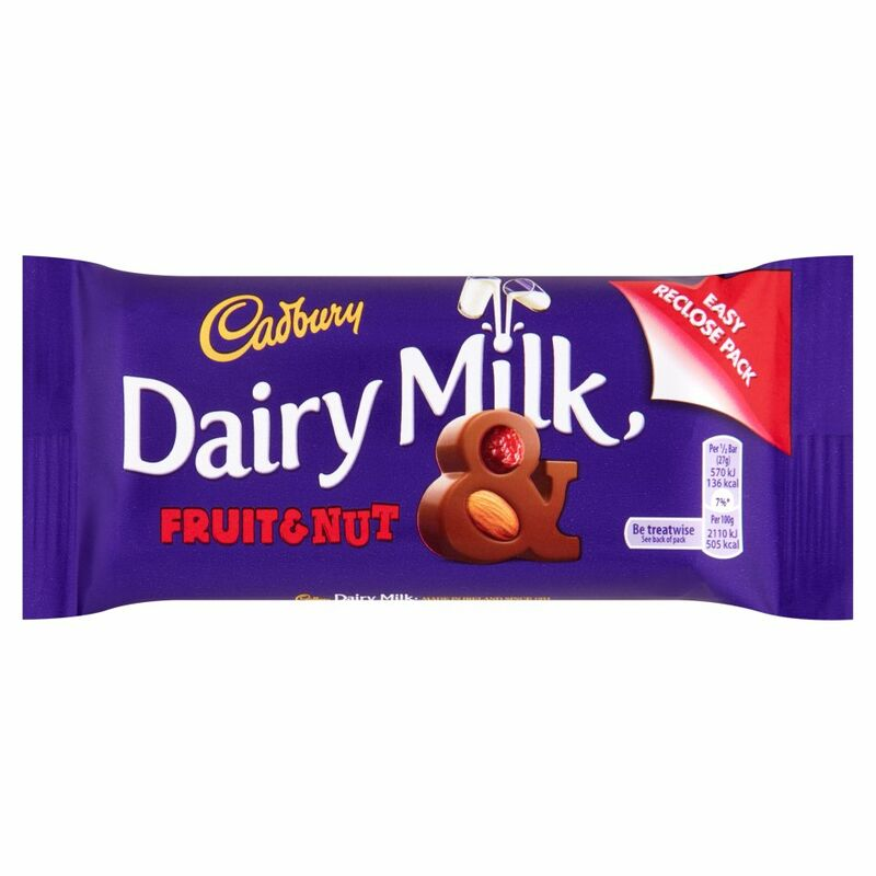 Cadbury Dairy Milk Fruit & Nut 54g