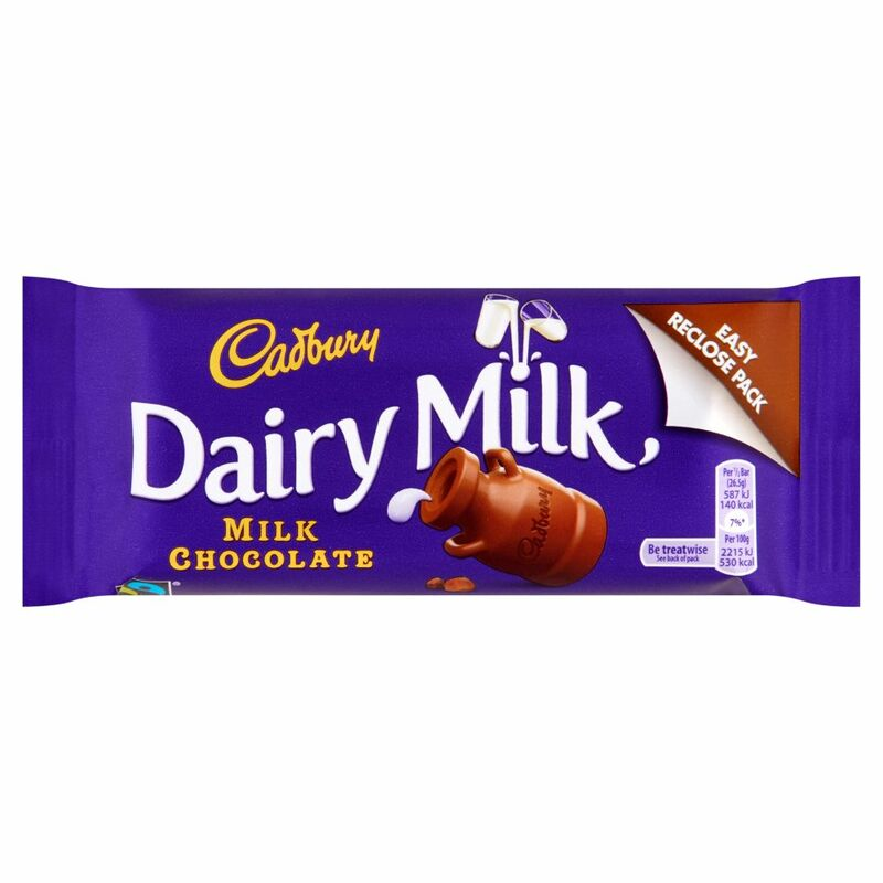 Cadbury Dairy Milk Milk Chocolate 53g