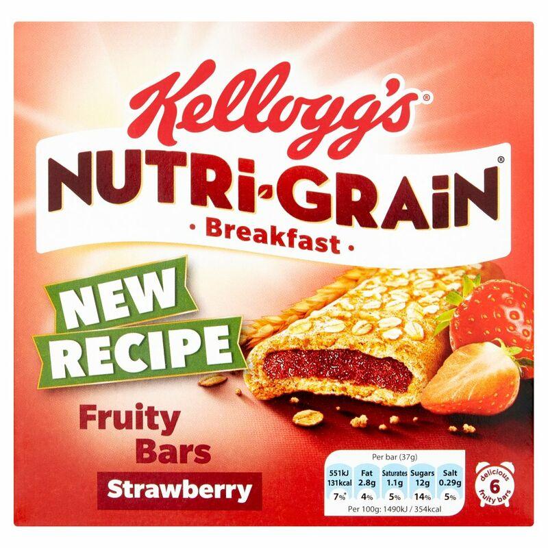 Kellogg's Nutri-Grain Strawberry Cereal Bars 6 x 37g