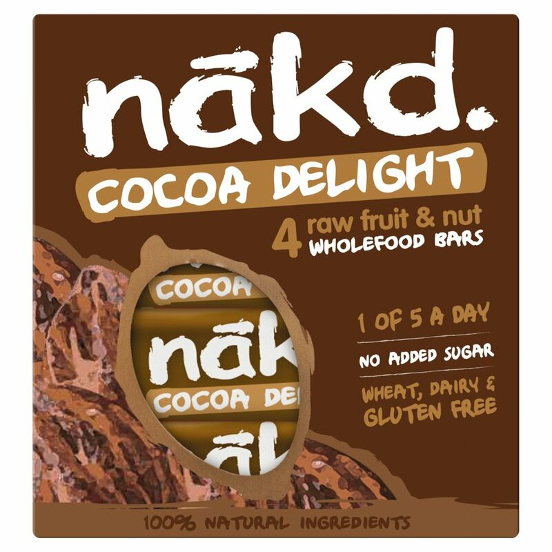 Nākd Cocoa Delight Raw Fruit & Nut Wholefood Bars 4 x 35g