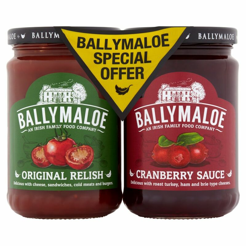 Ballymaloe Original Relish & Cranberry Sauce Pack 2 x 310g