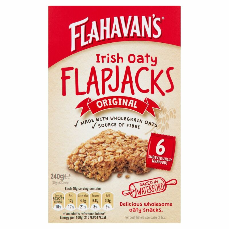 Flahavan's Irish Oaty Flapjacks Original 6 x 40g (240g)