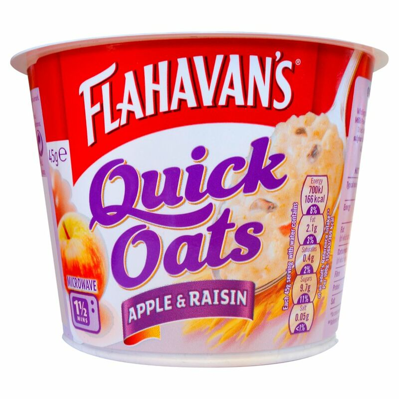 Flahavan's Quick Oats Apple & Raisin Porridge Pot 45g