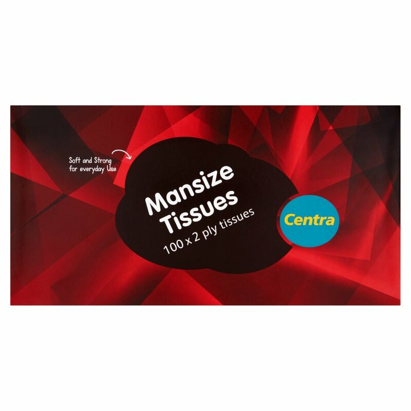 Centra Mansize Tissues 100 x 2 Ply Tissues