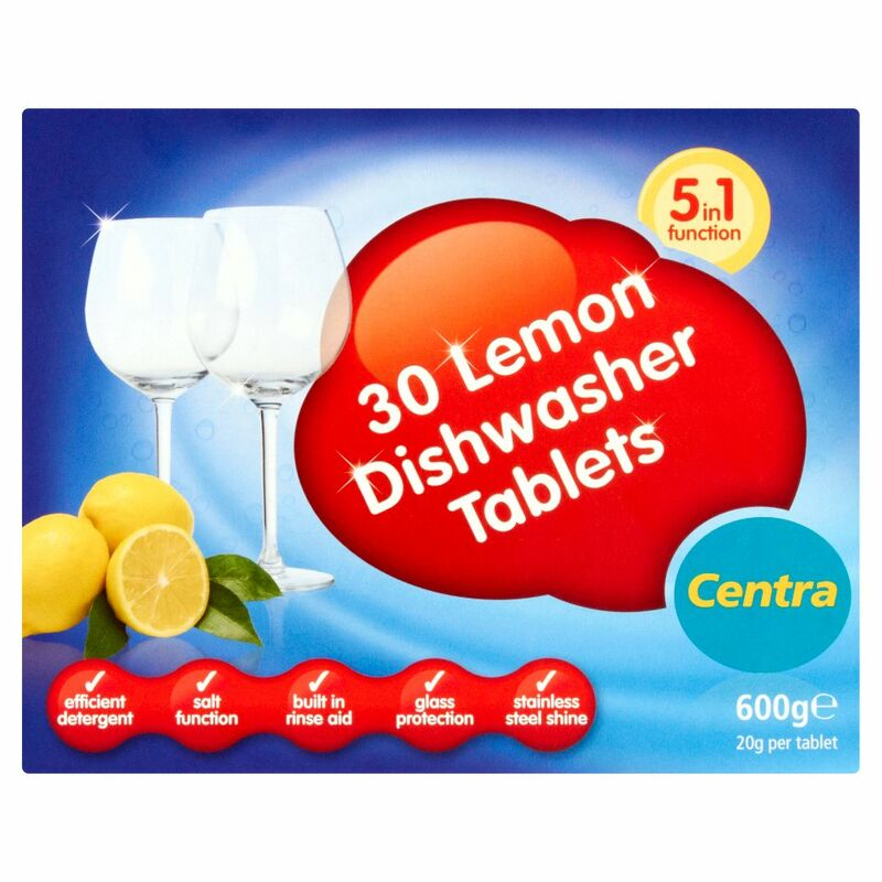 Centra 30 Lemon Dishwasher Tablets 600g