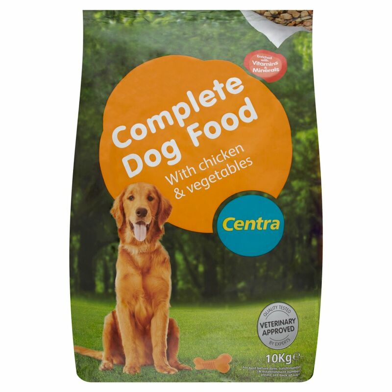 Centra Complete Dog Food with Chicken & Vegetables 10Kg