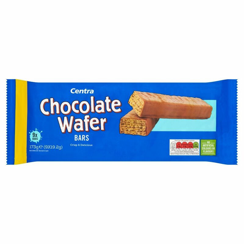 Centra Chocolate Wafer Bars 9 x 19.2g (173g)