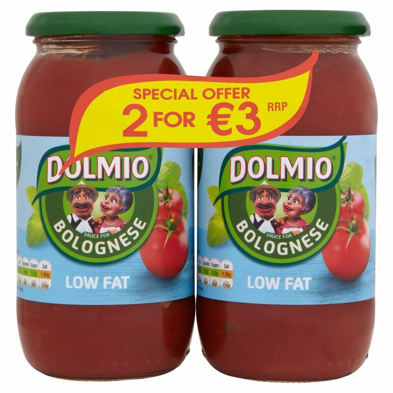DOLMIO® Low Fat Sauce for Bolognese 2 x 500g