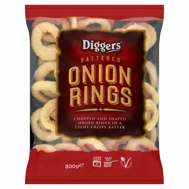 Diggers Battered Onion Rings 800g