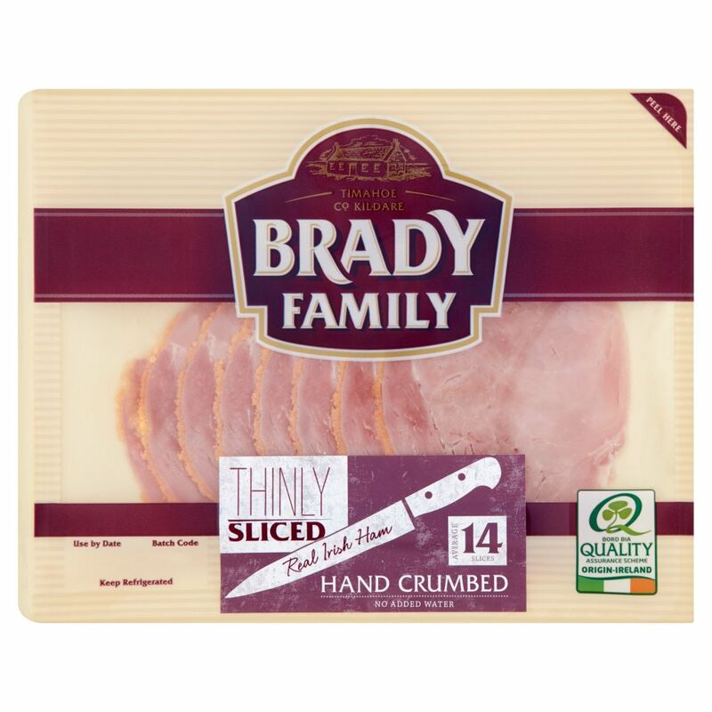 Brady Family Hand Crumbed Thinly Sliced Real Irish Ham 140g