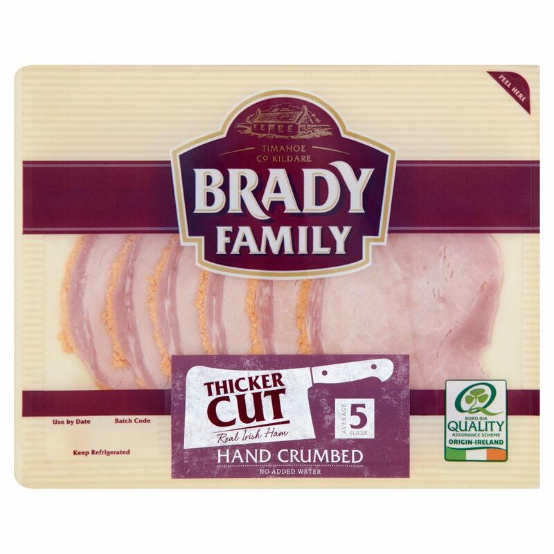 Brady Family Hand Crumbed Thicker Cut Real Irish Ham 140g
