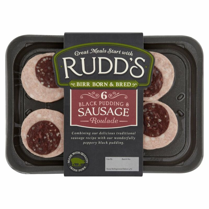 Rudd's 6 Black Pudding & Sausage Roulade 240g