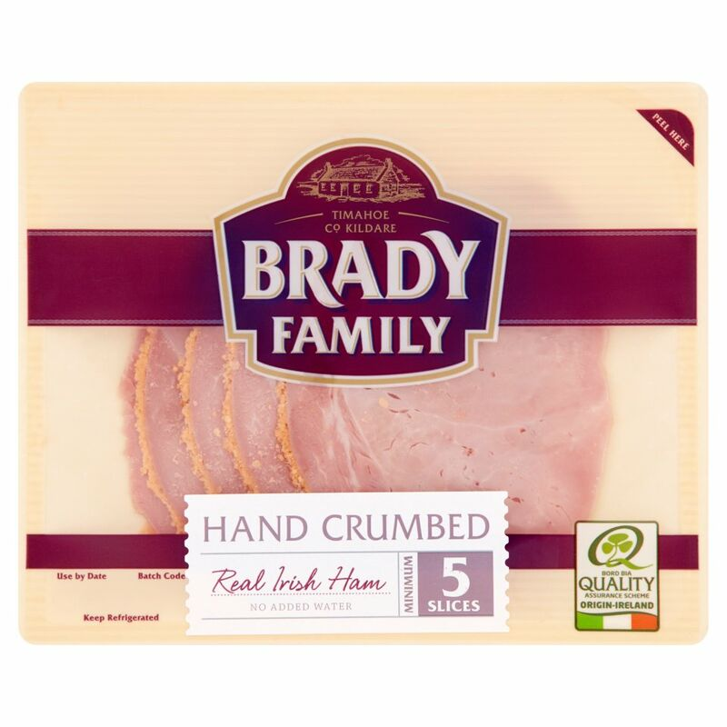 Brady Family Hand Crumbed Real Irish Ham Minimum 5 Slices 90g