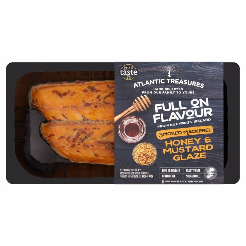 Atlantic Treasures Smoked Mackerel Honey & Mustard Glaze 170g
