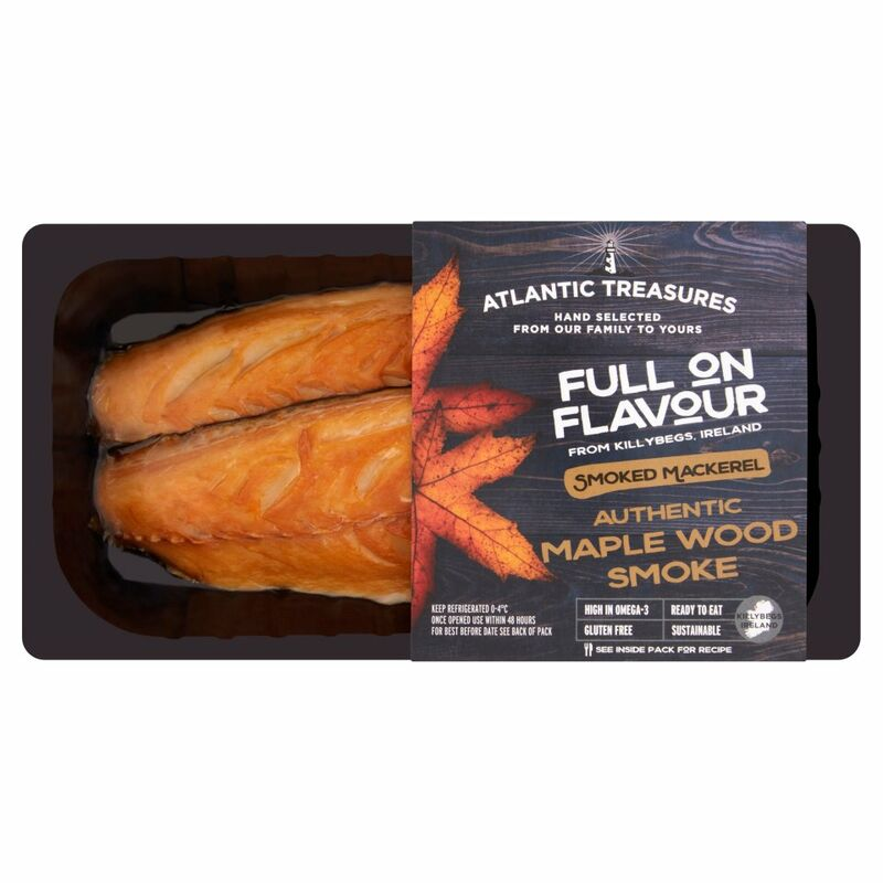 Atlantic Treasures Smoked Mackerel Authentic Maple Wood Smoke 170g