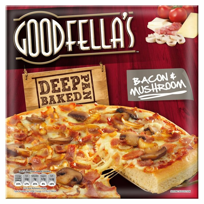 Goodfella's Fully Loaded Deep Pan Baked Bacon & Mushroom Pizza 430g