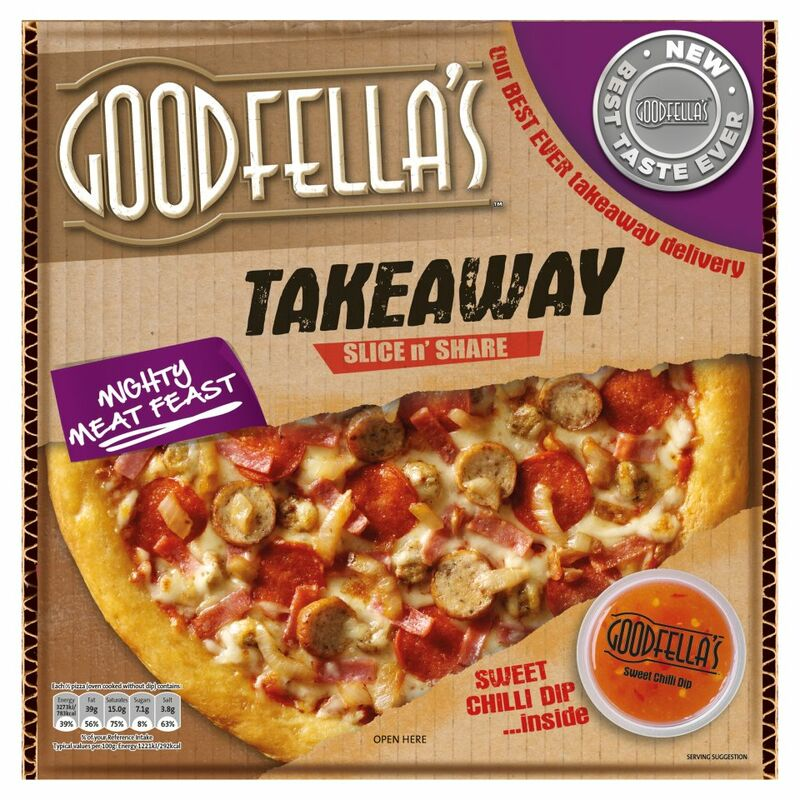 Goodfella's Takeaway Slice n' Share Mighty Meat Feast 596g