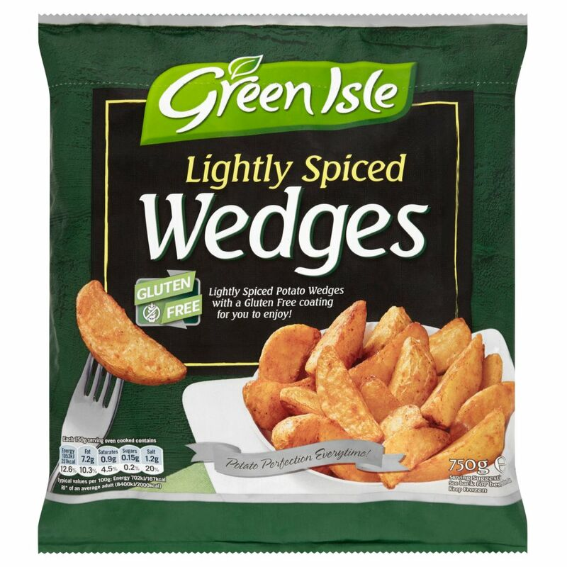 Green Isle Lightly Spiced Wedges 750g