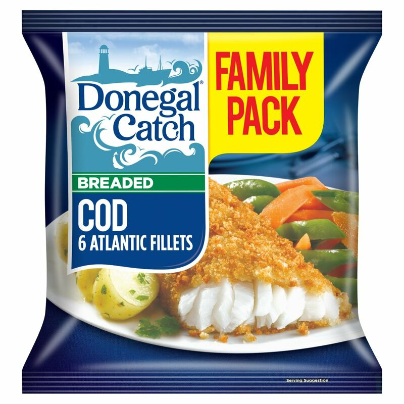 Donegal Catch 6 Breaded Cod Atlantic Fillets 550g