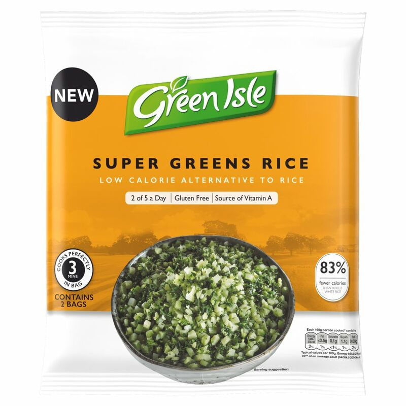 Green Isle Super Greens Rice 2 x 160g (320g)