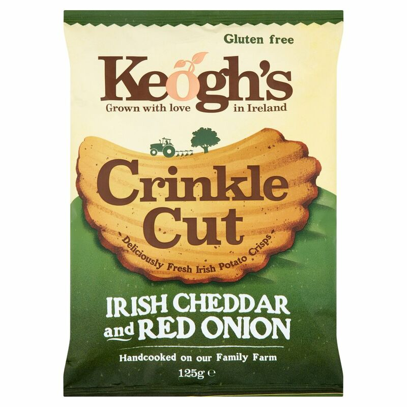 Keogh's Crinkle Cut Irish Cheddar & Red Onion 125g