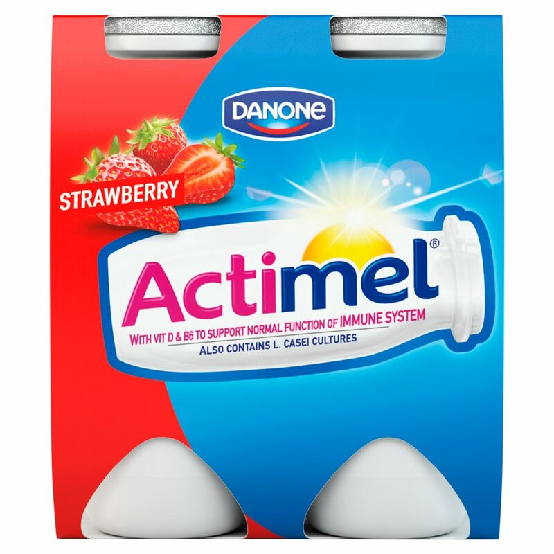 Actimel Strawberry 4 x 100g (400g)