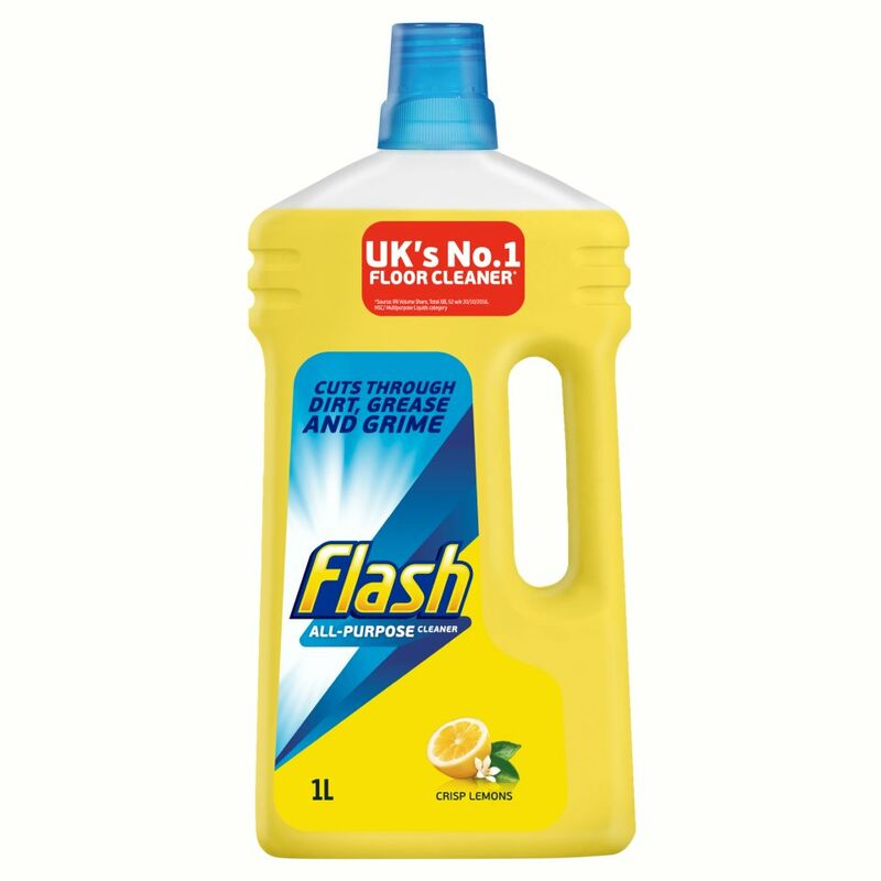 Flash All Purpose Liquid Cleaner Crisp Lemons 1L