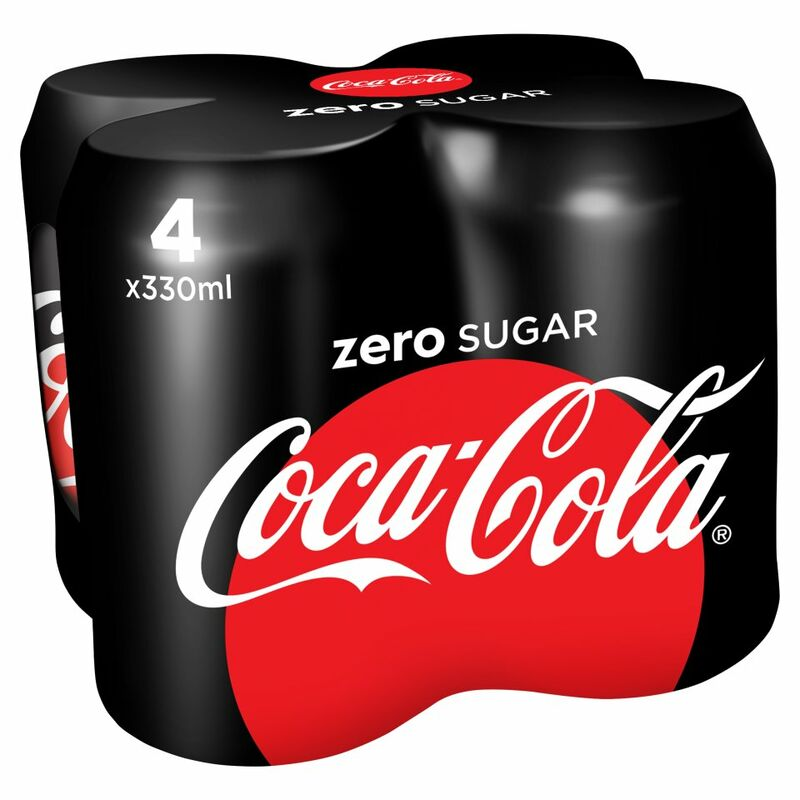 Coca-Cola Zero Sugar 4 x 330ml PMP