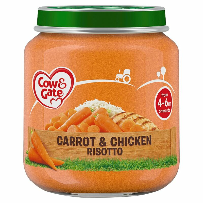 Cow & Gate Carrot & Chicken Risotto from 4-6m Onwards 125g