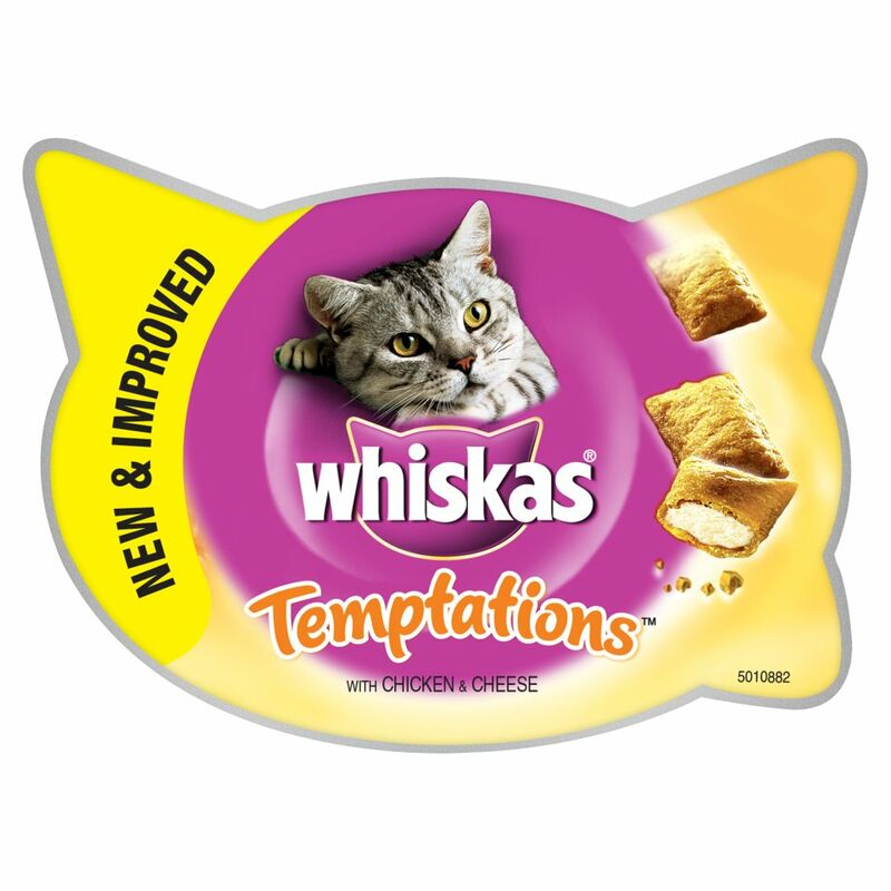 WHISKAS® Temptations Cat Treats with Chicken & Cheese 60g