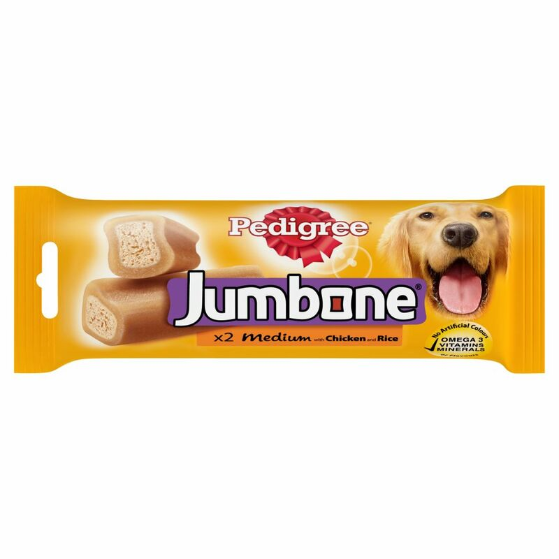 PEDIGREE Jumbone Medium Dog Treat with Chicken and Rice 2 Chews