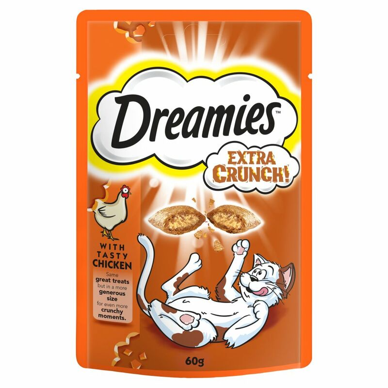 Dreamies Extra Crunch Cat Treats with Chicken 60g