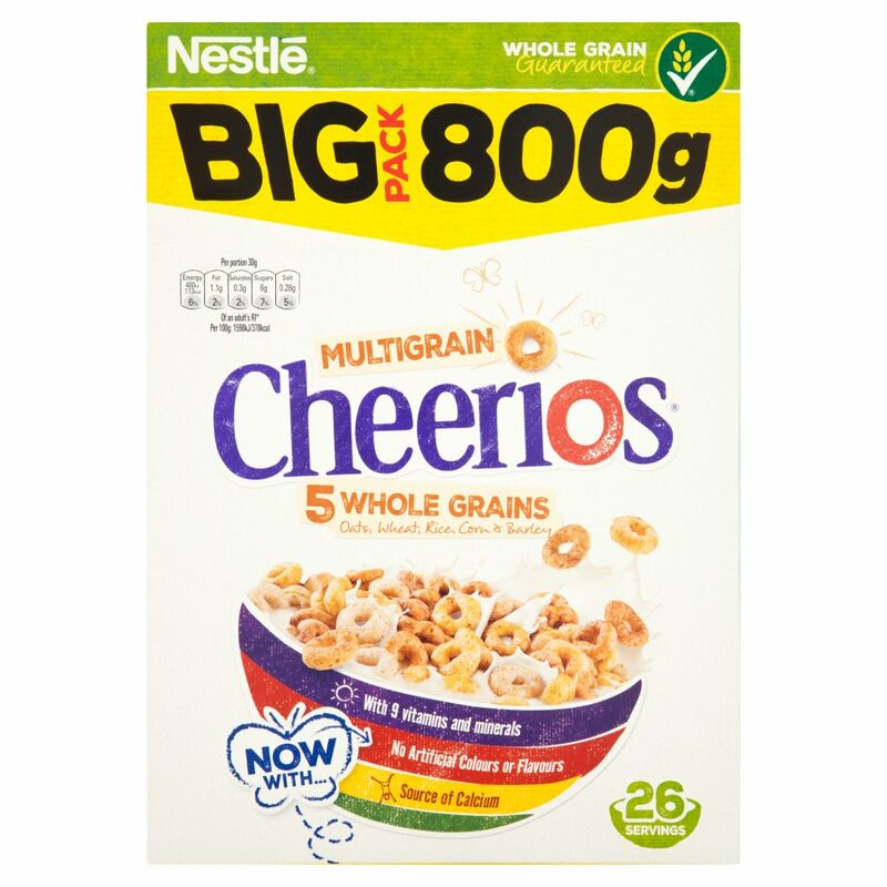 NESTLE CHEERIOS MULTIGRAIN Cereal 800g Box
