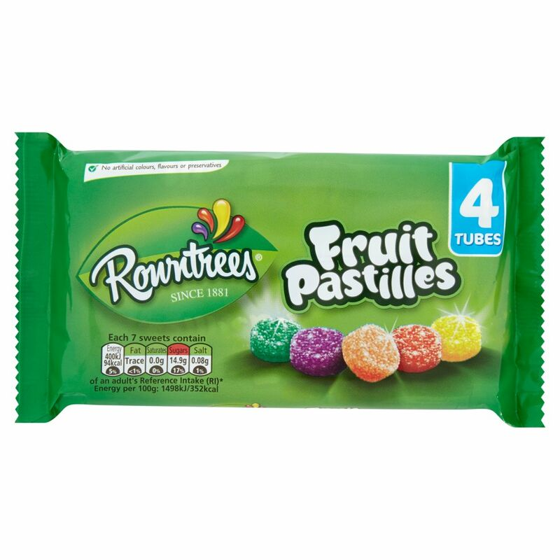 ROWNTREE'S Fruit Pastilles 4 Pack Multipack