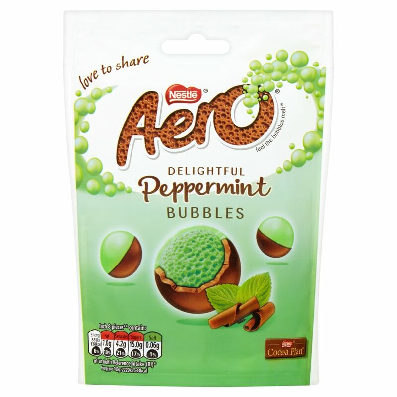 AERO Bubbles Peppermint Chocolate Sharing Bag 113g