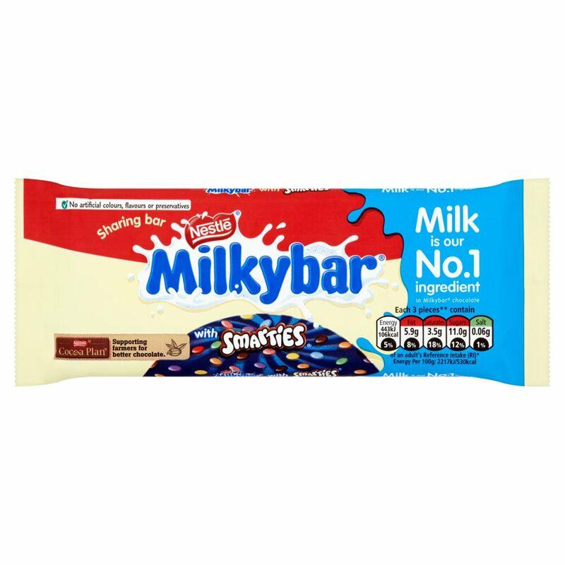 Nestlé Milkybar Smarties Block 100g - Centra