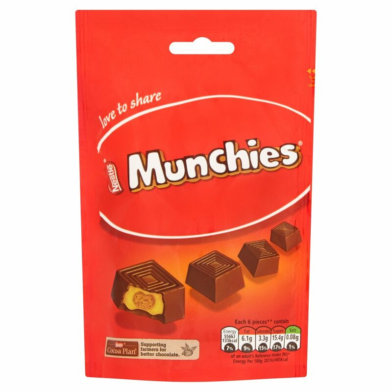 Munchies Chocolate Sharing Bag 113g